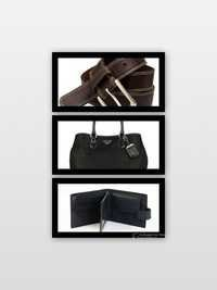 Leather Purse and Leather Bag
