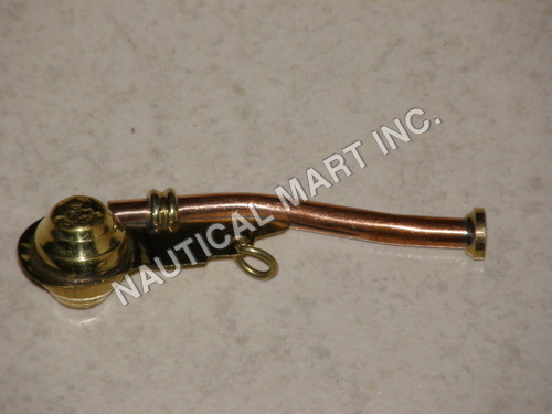 Nautical Whistle Brass Key Chain