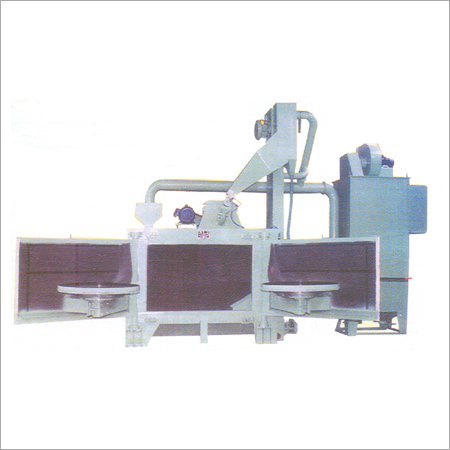 Table Type Double Door Shot Blasting Machine