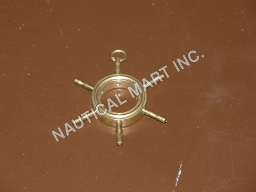NAUTICAL BRASS SHIP WHEEL KEY CHAIN.