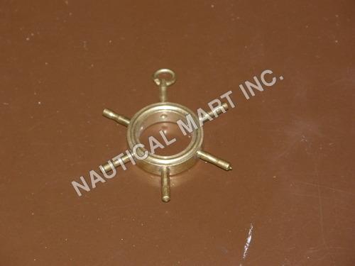 NAUTICAL BRASS SHIP WHEEL KEY CHAIN.
