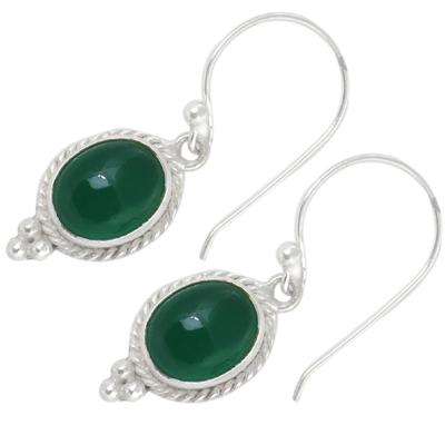 Green Onyx Gemstone Earrings Jewellery