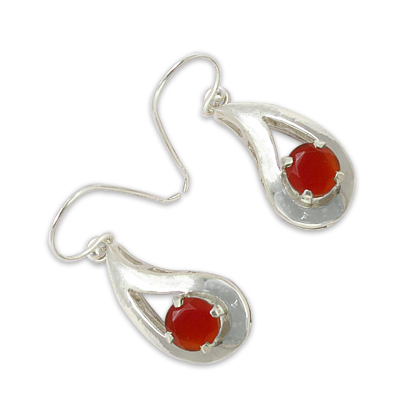Carnelian Gemstone Earrings Jewellery