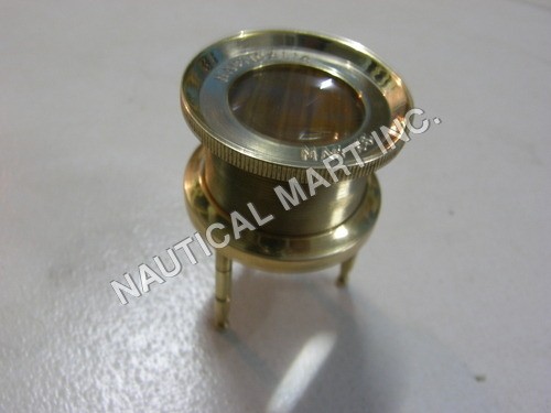 NAUTICAL BRASS MAGNIFYING TRIPOD