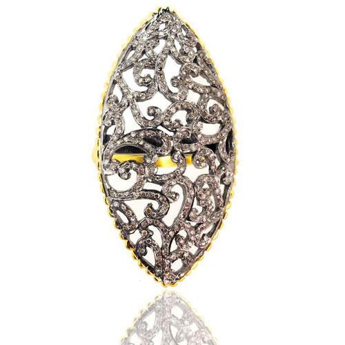 Pave Diamond Filigree Ring