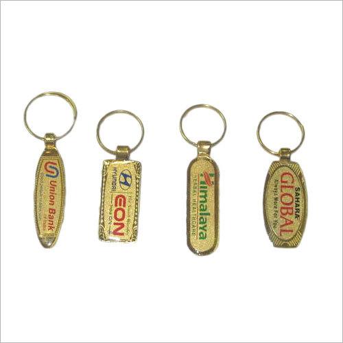 Gold laminated band key chain