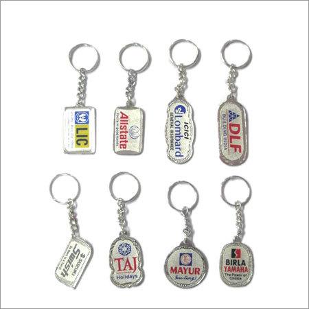 Silver Laminated Key Chain
