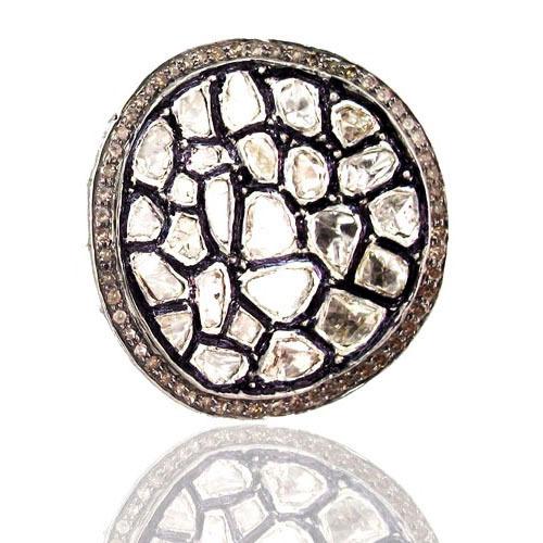 Gold Rose Cut Diamond Ring