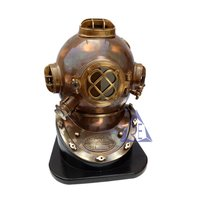 Antique Nautical Mark V Divers Helmet with Base