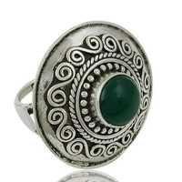 Ethnic Designer Onyx Silver Ring