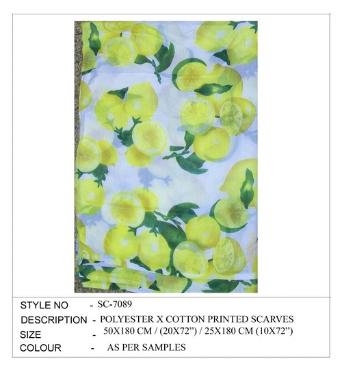 Polyester Printed Fancy Scarves