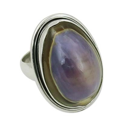 Shell Gemstone Sterling Silver Ring Jewellery