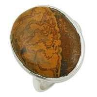Jasper Gemstone Ring Sterling Silver Jewellery