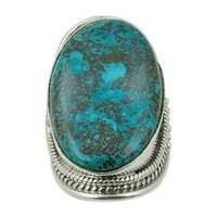 Turquoise Semi Precious Gemstone Silver Ring Jewellery