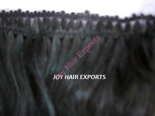 Hand Tied Weft Human Hair