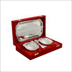 Silver Plated Tray Bowl Sets