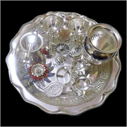 White Metal Pooja Sets