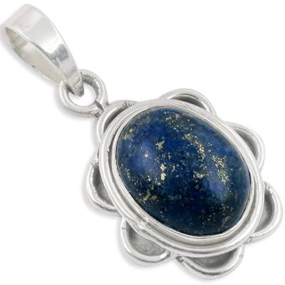 Lapis Lazuli Gemstone Sterling Silver Pendant Jewelery