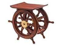 Nautical wheel shaped stool