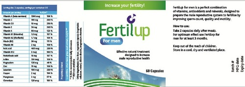 Fertility Capsules for Men