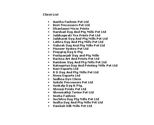 Our Client List