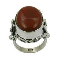 Red Onyx Gemstone Ring Jewellery