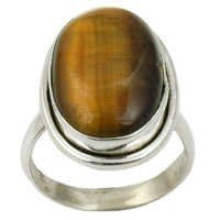 Tiger Eye Gemstone Ring Jewellery