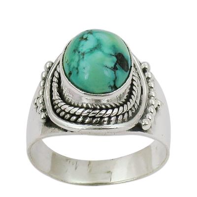 Semi Precious Turquoise Gemstone Ring Jewellery