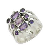 Natural Amethyst Gemstone Ring Jewellery