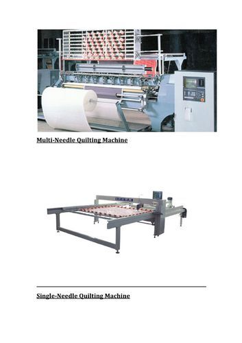 Multi Needle Quilting Machine