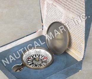 NAUTICAL SMALL COMPASS,BRONZE