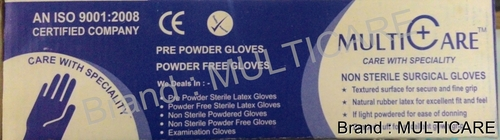 Non Sterile Powder Surgical Gloves