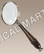 NAUTICAL MAGNIFYING GLASS, BRONZED.