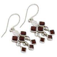Garnet Semi Precious Earrings Jewellery