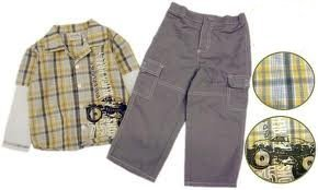 Boys 2pc Set (with shorts or pants)