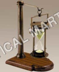 NAUTICAL BRONZED 30 MINUTE HOURGLASSES ON STAND..