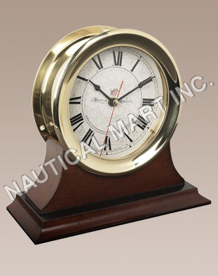 NAUTICAL CAPTAIN'S CLOCK