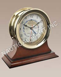 NAUTICAL CAPTAIN'S TIME & TIDE CLOCK..