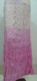 Pink Pleated Long Skirts