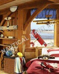 Nautical Jenny Red Plane Model