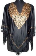 Golden Embroidered Ponchos