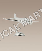 NAUTICAL ALUMINUM DESKTOP DC3 PLANE