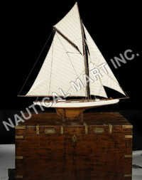 NAUTICAL AMERICA'S CUP COLUMBIA 1901 FRENCH FINISH..