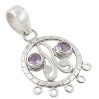Amethyst And Rainbow Moonstone Gemstone pendant Jewellery