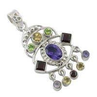 Multi Stone Pendant Gemstone pendant Jewellery
