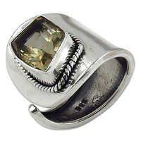 Natural Citrine Gemstone Ring Jewellery