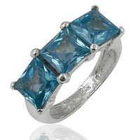 Natural Premium Blue Topaz Gemstone Ring Jewellery