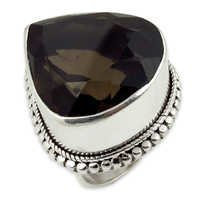 Premium Smokey Quartz Gemstone Ring Jewellery