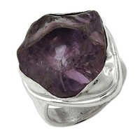 Natural Amethyst Gemstone Ring Jewellery