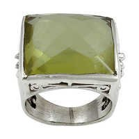 Premium Lemon Quartz Gemstone Ring Jewellery
